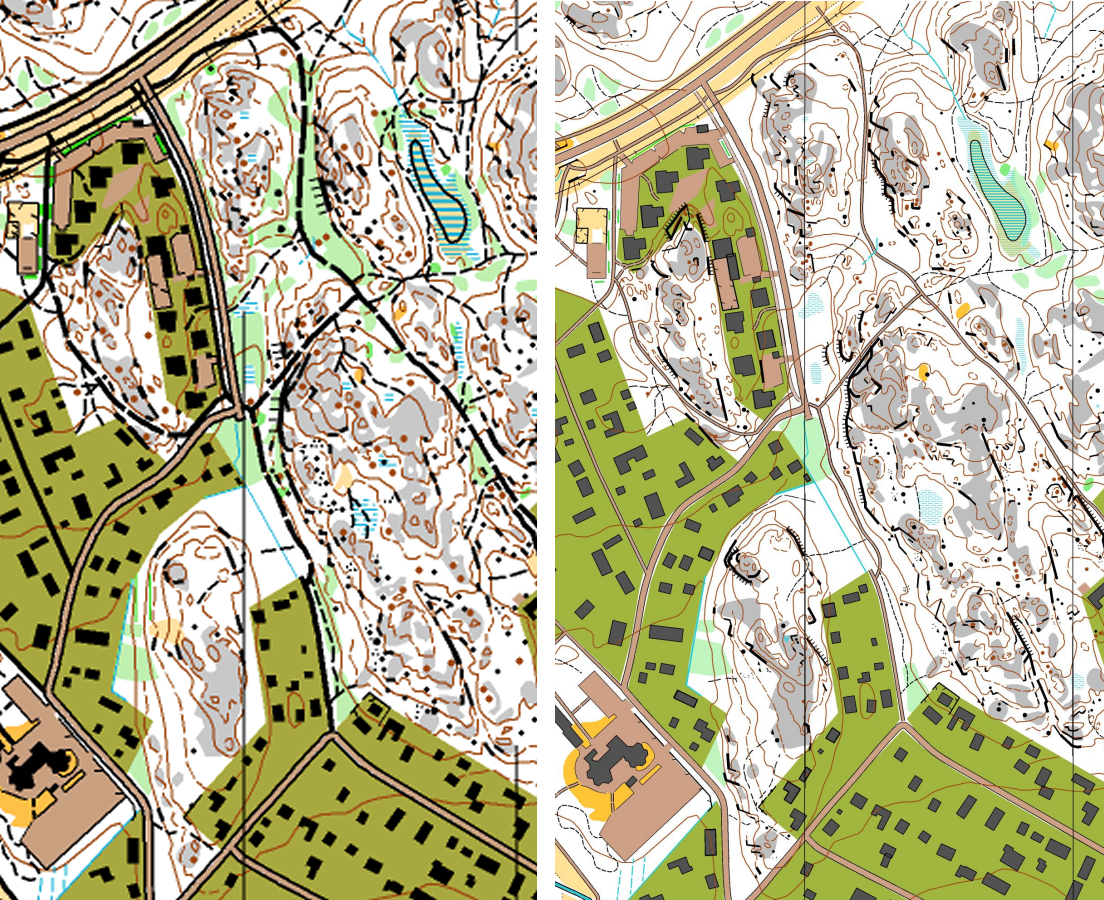 Isom 115 vs non isom maps attackpoint orienteering training issom and isom maps comparison may illustrate something at last how details seem to end up small and hard to read no matter what the scale is biocorpaavc